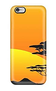 For Iphone 4/4S Cover Case 5.5 AFYCOLOR Hard PC Material with 3D UV Embossing Craft Print - Hollow Out Series of Country Life