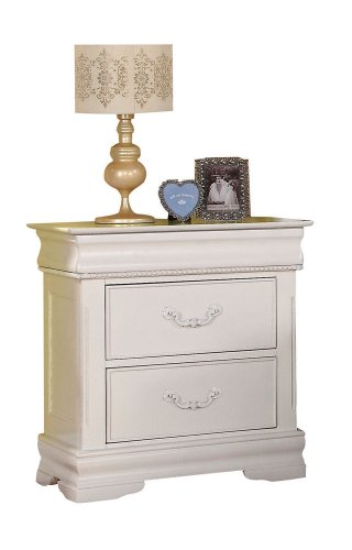ACME 30129 Classique Nightstand with Hidden Drawer, White by ACME