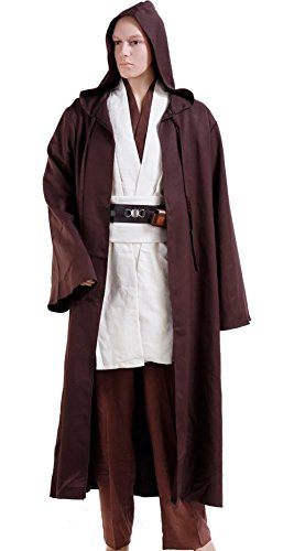 Cosplaybar Costume Star Wars Kenobi Jedi Robe Tunic Male XL