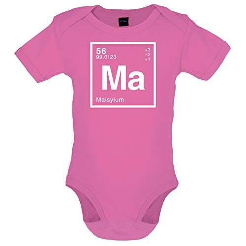 Dressdown MAISY Periodic Element Babygrow - Bubble Gum Pink - 12-18 Months
