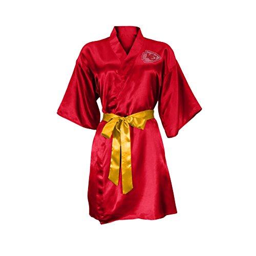 NFL Kansas City Chiefs Satin Kimono, Large/XL
