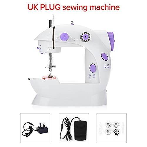 Sewing Machines New Mini Handheld Sewing Machines Dual Speed Double Thread Multifunction EU Electric Mini Automatic Tread Rewind Sewing Machine by ATUSY