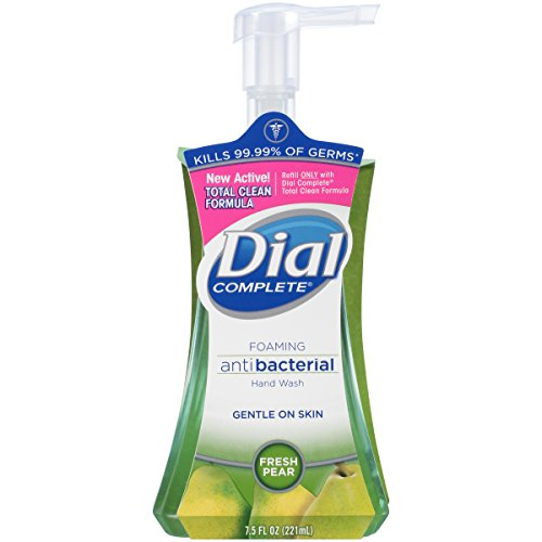 Dial Complete Antibacterial Foaming Hand Wash, Fresh Pear, 7.5 Ounce (Pack of - Hand Soap Foam