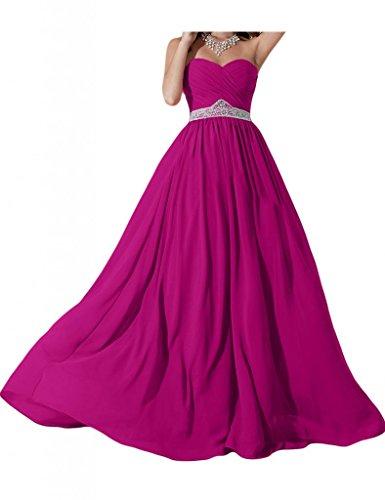 Elegante e alla moda a forma di cuore Chiffon sera Toscana sposa damigella Party Ball Bete vestimento per vestiti viola 44