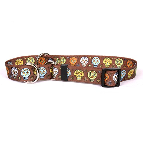 Yellow Dog Design Candy Skulls Martingale Dog Collar 1