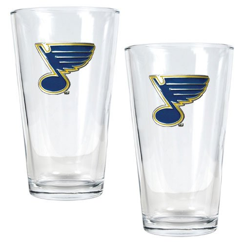 NHL St. Louis Blues Two Piece Pint Ale Glass Set - Primary Logo