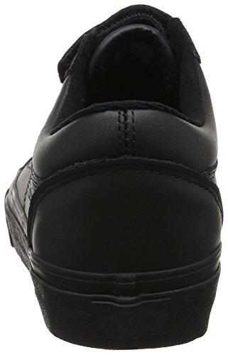 Vans Old Skool V Menns Mono Skinn Svart Skateboard Borrelås Fengsel Problemet Shoes Black (svart (mono Skinn))