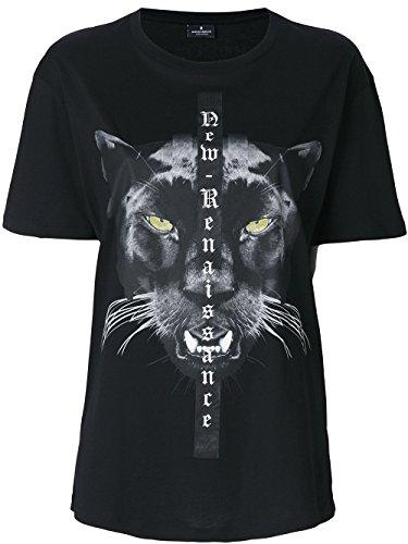 MARCELO BURLON Damen CWAA016E170470111088 Schwarz Baumwolle T-Shirt HLMg8ZZ