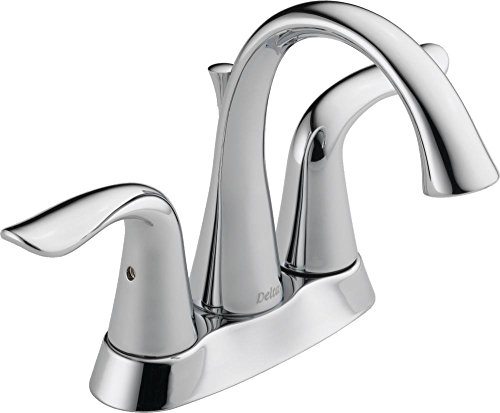 Delta Lahara Two Handle (Delta 2538-TP-DST Lahara Two Lever Handle Centerset Bathroom Faucet with 50/50 Pop-Up Drain, Chrome)