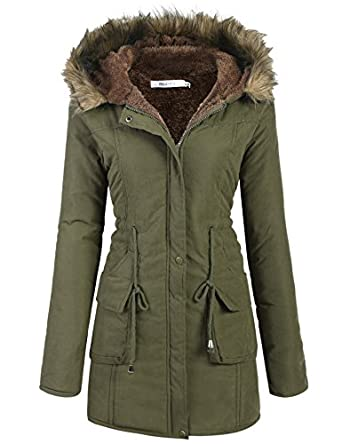 Amazon.com: Meaneor Womens Hooded Warm Winter Faux Fur Lined ...
