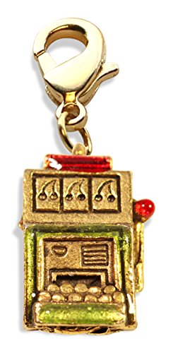 Whimsical Gifts Casino Charm Dangles (Slot Machine, (Poker Hand Charm)