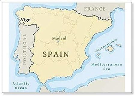 Imán para nevera con mapa de Vigo en España: Amazon.es: Hogar