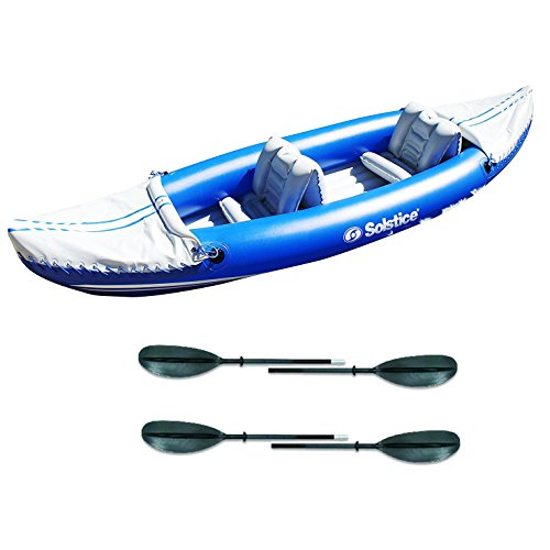 Solstice 29900 Whitewater Rapids Rogue 2-Person Inflatable Kayak w/ 2 Paddles