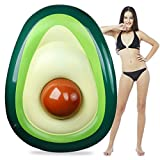 Aitey Pool Float, Giant Inflatable Avocado Pool Floatie with Ball Water Fun Summer Swimming Pool Raft Lounge Beach Floaty Party Toys for Adults Kids