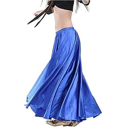 Whobabe Luxury Belly Dance Satén Vestido Largo Cinturón elástico ...