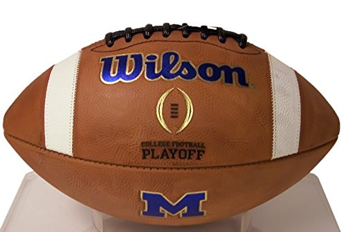 Michigan Wolverines Official Wilson NCAA Sports Team Logo Leather Football - GTS by Creative Sports