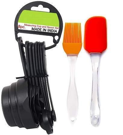 JALONVI Premium 8pcs Measuring Cup and Spoon Set Multi Purpose Kitchen Tool, Measuring Cups for Kitchen, Measuring Cups for Baking Cake, Cake Baking Accessories, Measuring Spoons and Cups Set