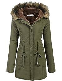 Meaneor Womens Hooded Warm Winter Faux Fur Lined Parkas...