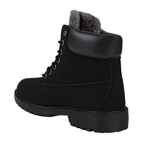 Boots Schwarz Stiefelparadies Combat Women's Agueda fYqnH1RTw