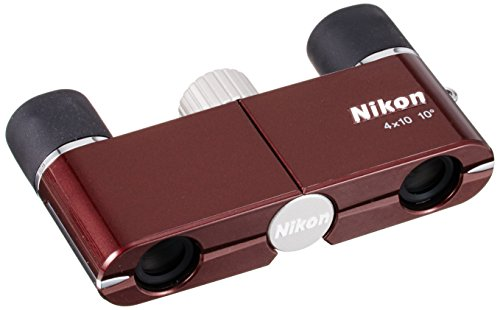 Nikon Binoculars 4X10D Wine Red