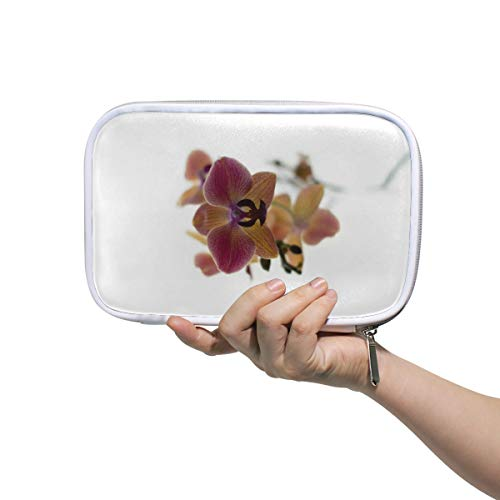 Cute Pencil Case Makeup Brush Bag Stationery Bag Blooming Purple Orchid - Blooming Stationery