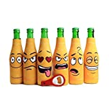 Cheap Amazing Drinkers – 6 pack funny quotes & cartoons Extra Thick yellow Neoprene Beer Bottle Sleeve Covers -Fully stitched, Non-Glued Base + bottle opener Trendy & Awesome Gift or Hosting Item # 6B-YFC