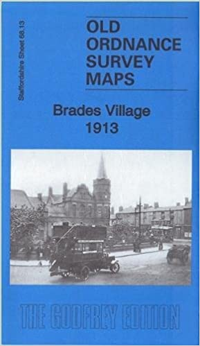 Brades Village 1913 Staffordshire sheet 6813b Old Ordnance Survey