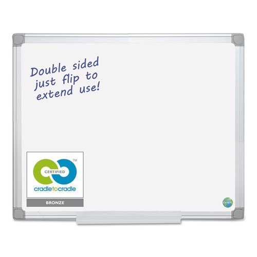 MasterVision MA2100790 Earth Silver Easy Clean Dry Erase Boards, 48 x 96, White, Aluminum Frame by MasterVision