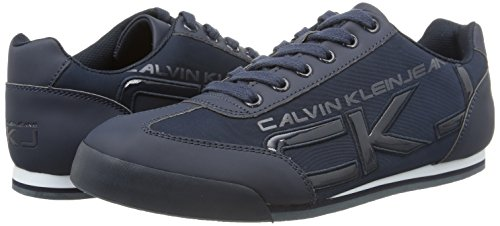 huge selection of 841db 516b5 Uomo Smooth Calvin Cale Sneaker navy Klein Matte paten Basse blu Blu qH0a6TH