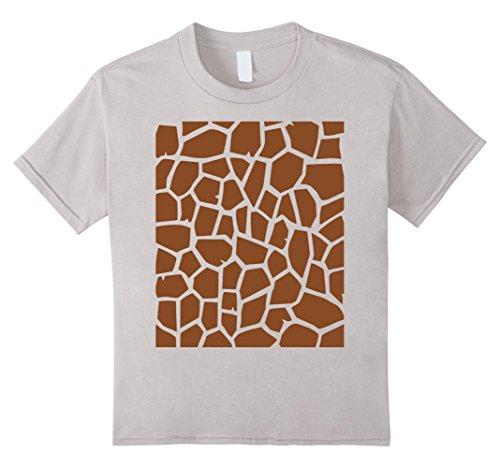 Halloween Costume Ideas Under 20 (Kids Giraffe Print - Easy Halloween Costume Idea - Tee Shirt 12 Silver)
