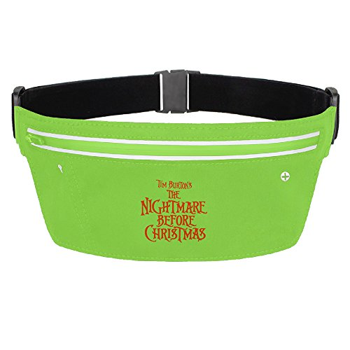 [CGHNG Outdoor Bumbag The Nightmare Before Christmas Letter Mini Dumpling Waist Bag Packs Waist Bag Pouch For Women Man Outdoors Workout - Great For Running Hiking Travel Sport] (Boogie Man Nightmare Before Christmas Costumes)