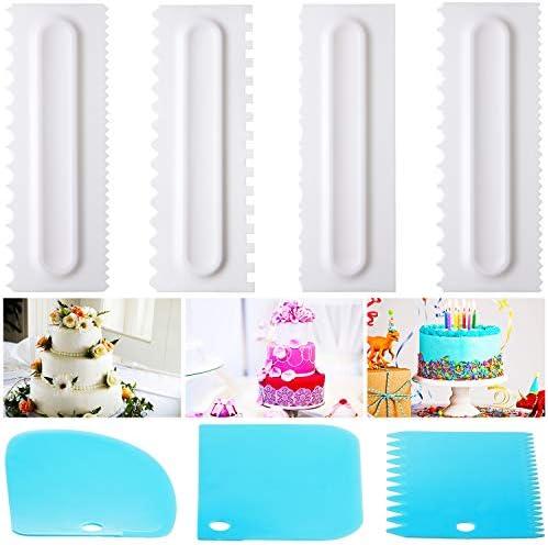 JP/_ Icing Cream Spreader Scraper Cake Fondant Smoother Spatulas Decorating Too