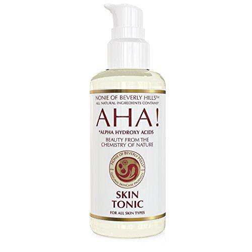 100% Natural Skin Tonic. Exfoliating Alcohol Free Toner + Aftershave Toner For All Skin Types Best In Anti Aging Hyrdrates With Alpha Hydroxy Acids, Bergamot & Neroli Oils & Organic Apple Cider Vinegar 7.0 Oz GLASS