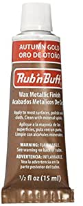 AMACO Rub 'n Buff Wax Metallic Finish, Autumn Gold, 0.5-Fluid Ounce