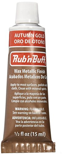 AMACO Rub 'n Buff Wax Metallic Finish, Autumn Gold, 0.5-Fluid Ounce ()