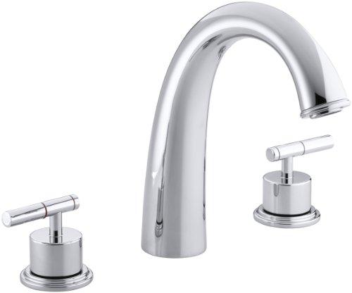 Shower Taboret - KOHLER K-T8235-4-CP Taboret Deck-Mount High-Flow Bath Faucet Trim, Polished Chrome
