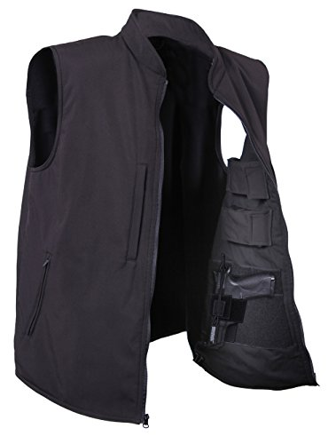 Rothco Concealed Carry Soft Shell Vest, Black, Medium