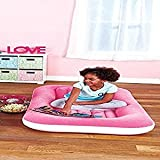 Kids Portable Bed. On The Go Folding Slumber Bed. Perfect Indoor/Outdoor Portable Bed For Kidz. Pink Inflatable Bed Perfect Portable Kidz Bed For Roadtrips, Camping, Hiking, Vacations, And Sleepovers.