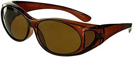 LensCovers Sunglasses - Wear Over Prescription Glasses. Size Small with Polarization.
