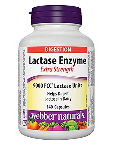 Webber Naturals - Lactase Enzyme Extra strength 120 capsules by Webber Naturals by Webber Naturals