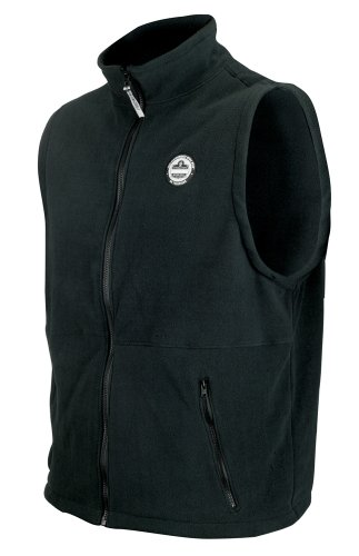 mance Work Wear 6443 Fleece Vest, Black, Medium (Ergodyne Core)