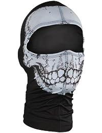 Nylon 'Skull' Design Balaclava (Multicolor, One Size)
