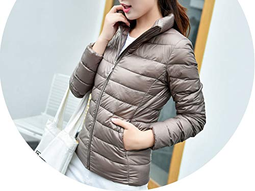 - Coat Duck Down Jacket Slim Jacket Portable Windproof Down Coat S-6Xl,Khaki,4XL