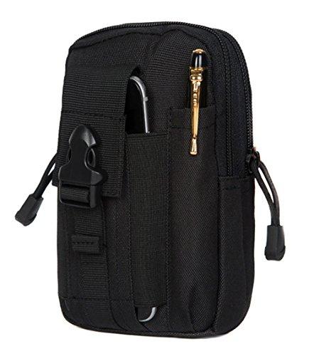 zeato Tactical Bolsa Edc Utility Gadget para cinturón porta riñonera con teléfono móvil iPhone 6y 6Plus 7/7Plus Samsung Galaxy S8S7S6LG HTC y más, Hombre, Army Green negro