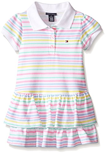 Tommy Hilfiger Baby-Girls Printed and Solid Pique Knit Dress, Multi, 0-3 Months