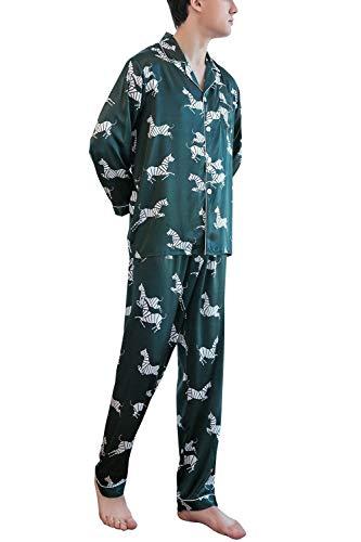 Con Largas Grün Mode Pijamas Piezas Satén Parejas Camisa Bolsillo Verano Marca 2018 Bolawoo De Los Cuello Hombres Dos Usted Odqw8UzP