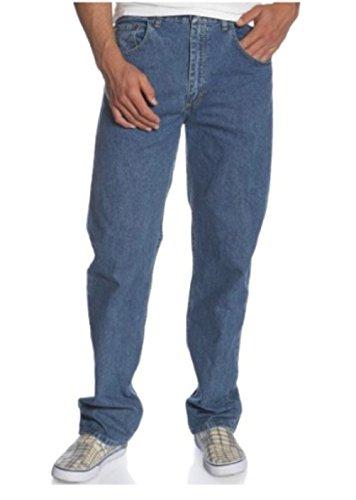 Wrangler Regular Genuine Jeans Fit (Wrangler Genuine Men's Relaxed Fit Jean (40 X 30, Blasted Indigo))