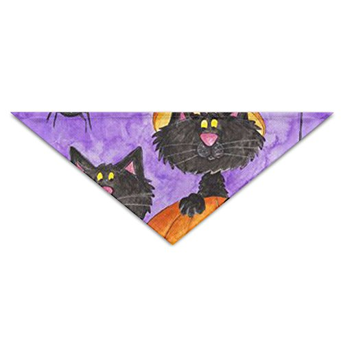 (KLVXU Dog Bibs Dog Saliva Towel Cotton 1208770948add84f9795c9c9ee47ff0e-halloween-artwork-halloween-prints Triangular Bandage Scarf Accessories For Small Puppy Dogs Pet)