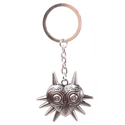 Zelda Nintendo Legend of Zelda Majora's Mask Metal Keychain (Grey) (Snes Zelda A Link To The Past Walkthrough)