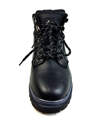 Starex | Wasserdicht Sicherheit Stiefel Hiker | Stahlkappe |fg Leder A901schwarz